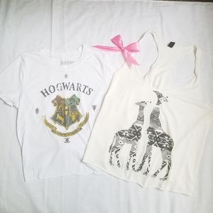 top windsor harry Potter size M white and cream